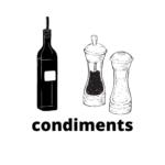 sel, poivre, huiles, condiments divers